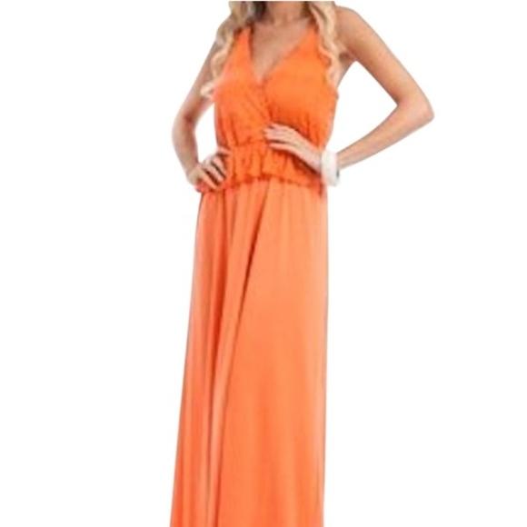 Plus Size Lace Wrap Peplum Ruffle Maxi Dress Boutique